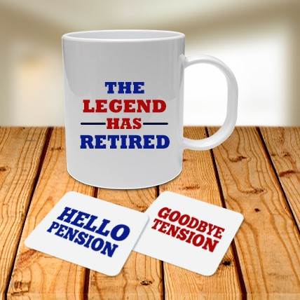 Retirement Mug and Coasters Set