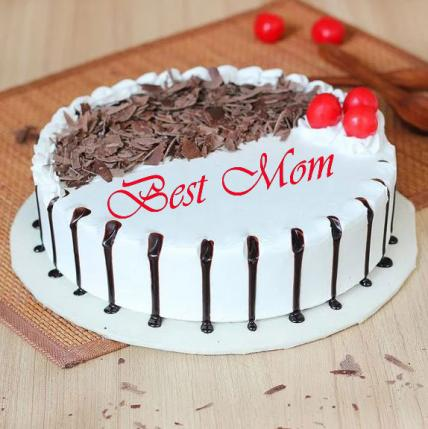 Best Mom Snowy Black Forest Cake