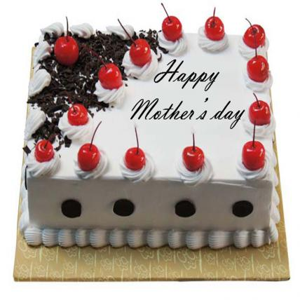 Mothers Day Square Black Forest Cake