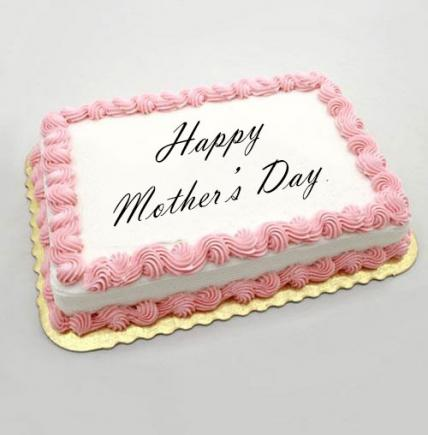 Mothers Day Square Strawberry Cake