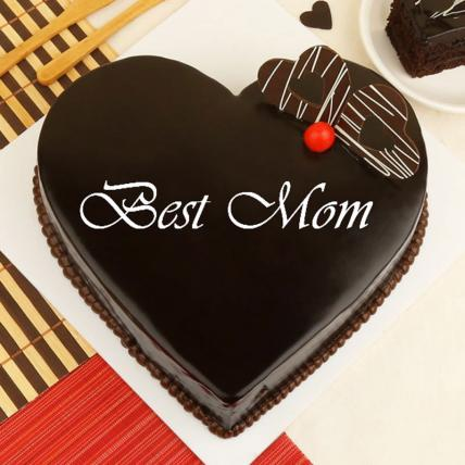 Premium Mothers Day Heart Shape Truffle Cake