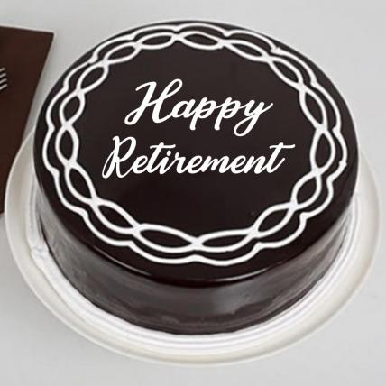 Retirement Chocolate Cream Cake