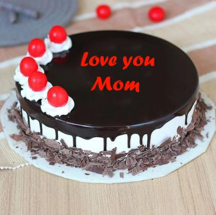Love You mom Cherry Bomb Black Forest Cake