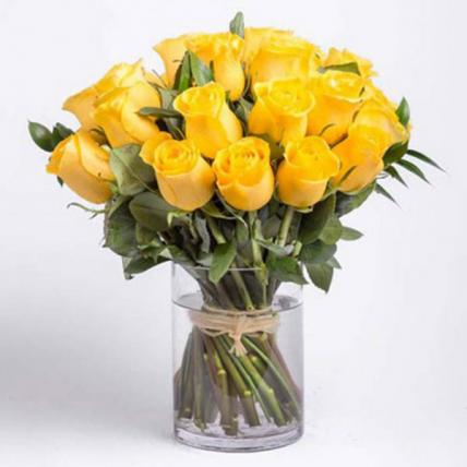Yellow Roses Vase Large