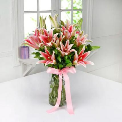 Pink Lily In Vase