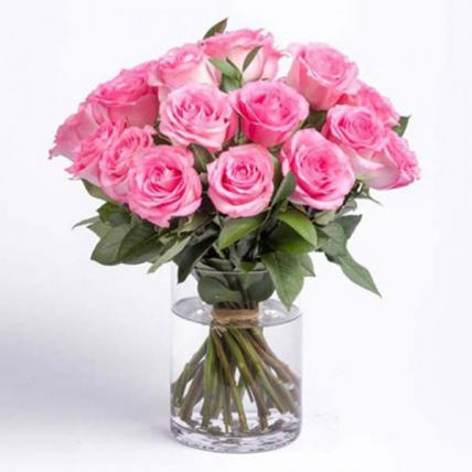 Pink Roses Vase Large