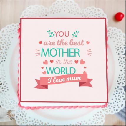 Best Mum Photo Cake