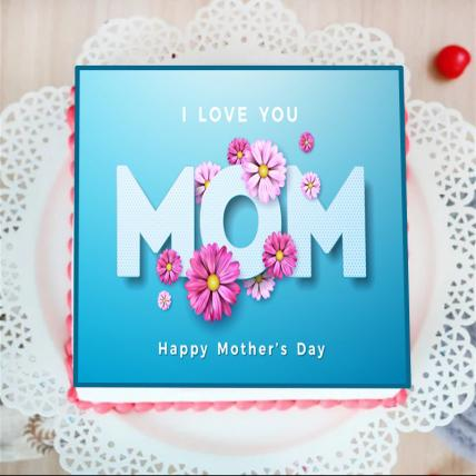 I Love You Mom Photo Cake