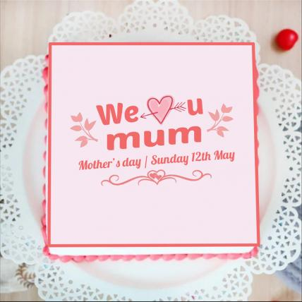 We Love You Mom Photo Cake