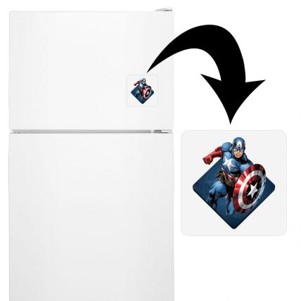 Captain America Fridge Magnet