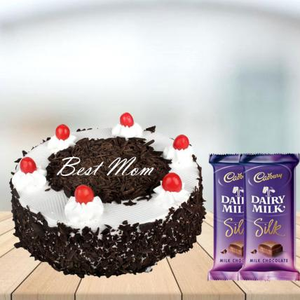 Mothers Day Black Forest Cake with Cadbury Silk Combo