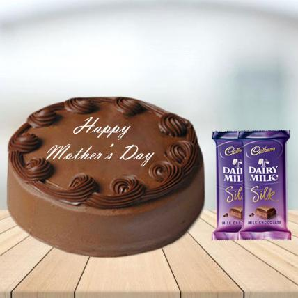 Mothers Day Chocolate Cake with Cadbury Silk Combo