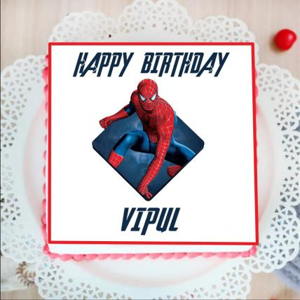Spider Man Photo Cake