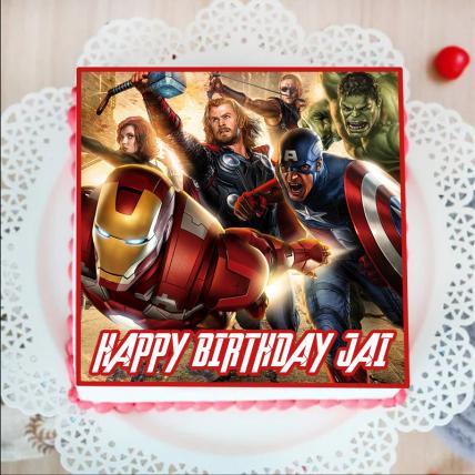 Avengers Photo Cake