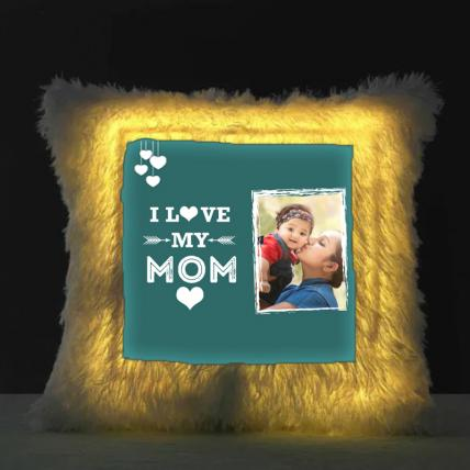 I Love You Mom LED Cushion