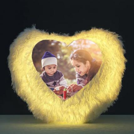 Mothers Day Heart Shape LED Cushion
