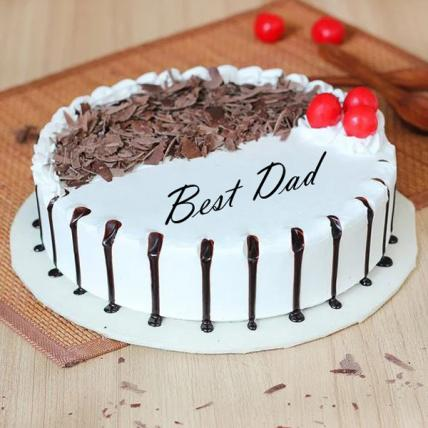 Best Dad Snowy Black Forest Cake