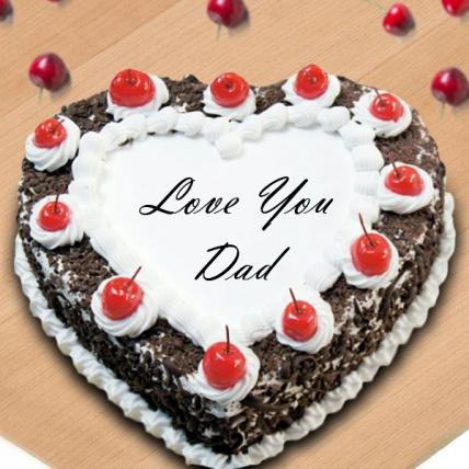 Fathers Day Exclusive Heart Shape Black Forest Cake