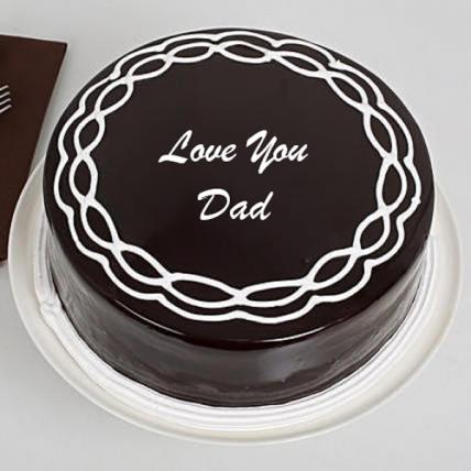 Father's Day Chocolate Cream Cake