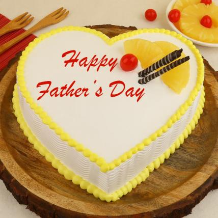 Father's Day Exclusive Heart Shape Pineapple Cake