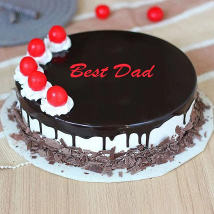 Best Dad Cherry Bomb Black Forest Cake