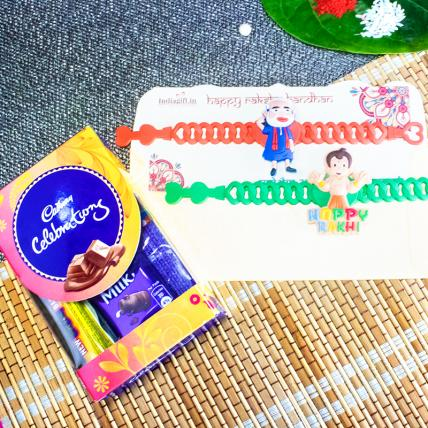 Set of Kids Rakhi With Chocolates