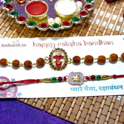 Swastika and Ganesha Rakhi