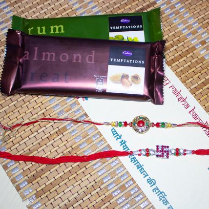 Rakhi Set with Temptation Chocolates