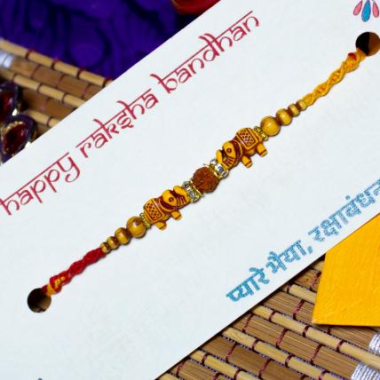 Single Rudraksh Rakhi