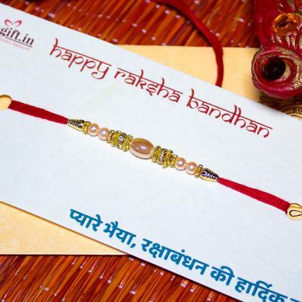 Shining Pearl Rakhi