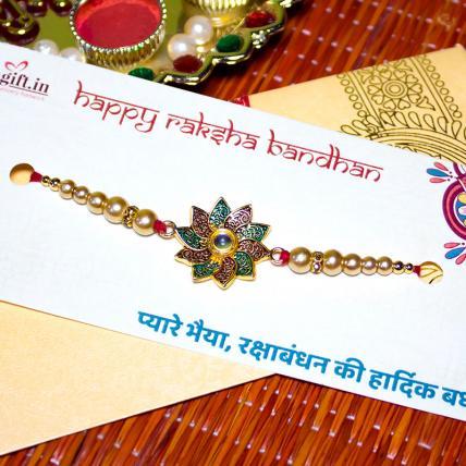 Flower Pearl Rakhi