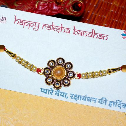 Pearl and Stone Rakhi