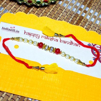 Beads & Pearl Rakhi
