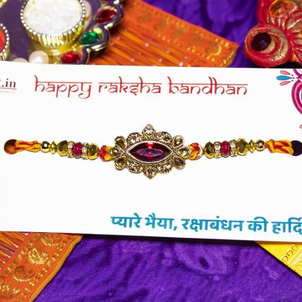 Colourful Kundan Rakhi
