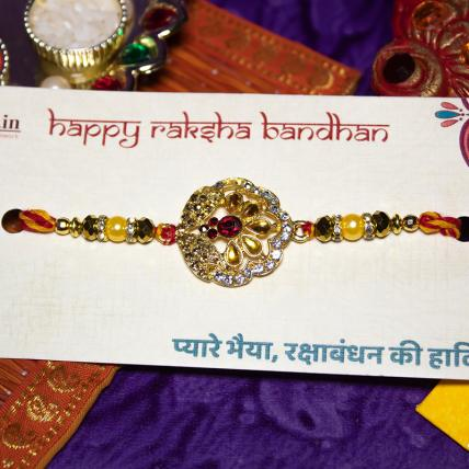 Beautiful Kundan Rakhi