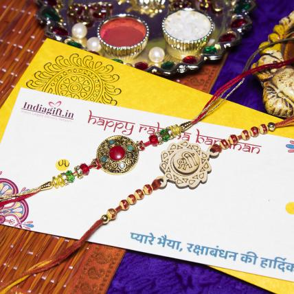 Colourful Rakhi Combo