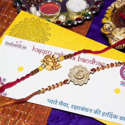 Perfect Shri Ganesha Rakhi Set