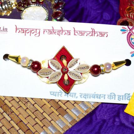 Pearl Zardosi Rakhi