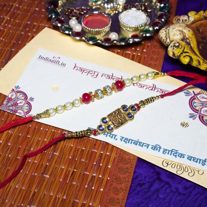 Beautiful Rakhi Mouli Set