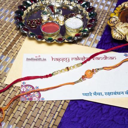 Special Pearl OM Rakhi Set