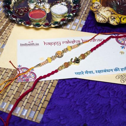 Rudrakh OM Rakhi Combo
