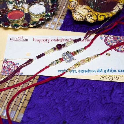 Exquisite 3 Rakhi Combo