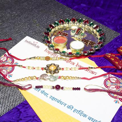 Beautiful Rakhi Combo of 4
