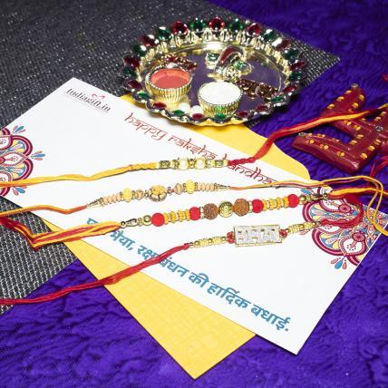 Bhai Rakhi Combo of 4