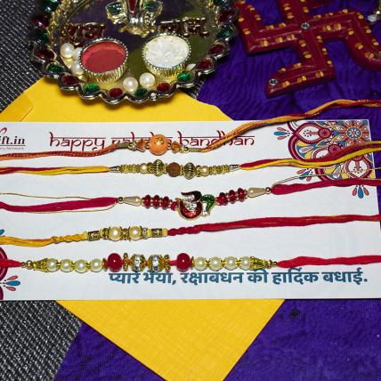 Beautiful Rakhi Combo of 5