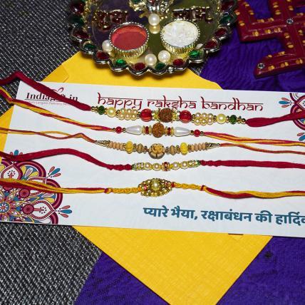 Mouli Rakhi Combo of 5