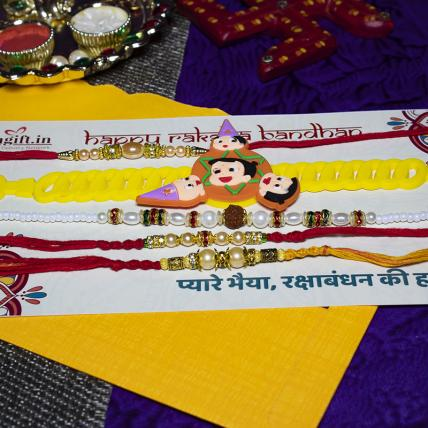 Cute Rakhi Combo of 5