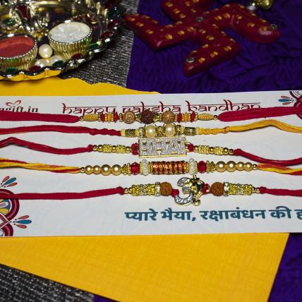 Bhaiya Rakhi Combo of 5