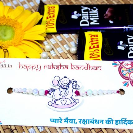 Unicorn Rakhi with Dairy Milk Chocolates