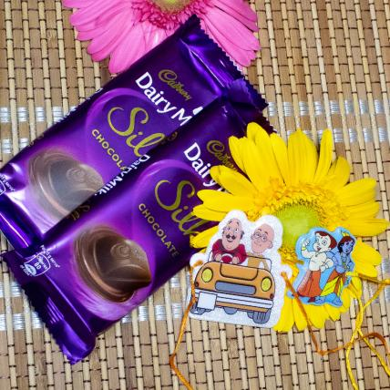 Chhota Bheem Rakhi with Dairy Milk Silk Chocolates